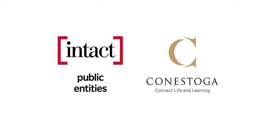 Intact Public Entities Logo, Conestoga College Logo